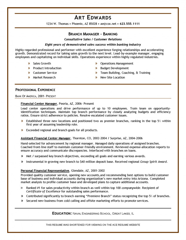 resume samples  u2013 ace resume